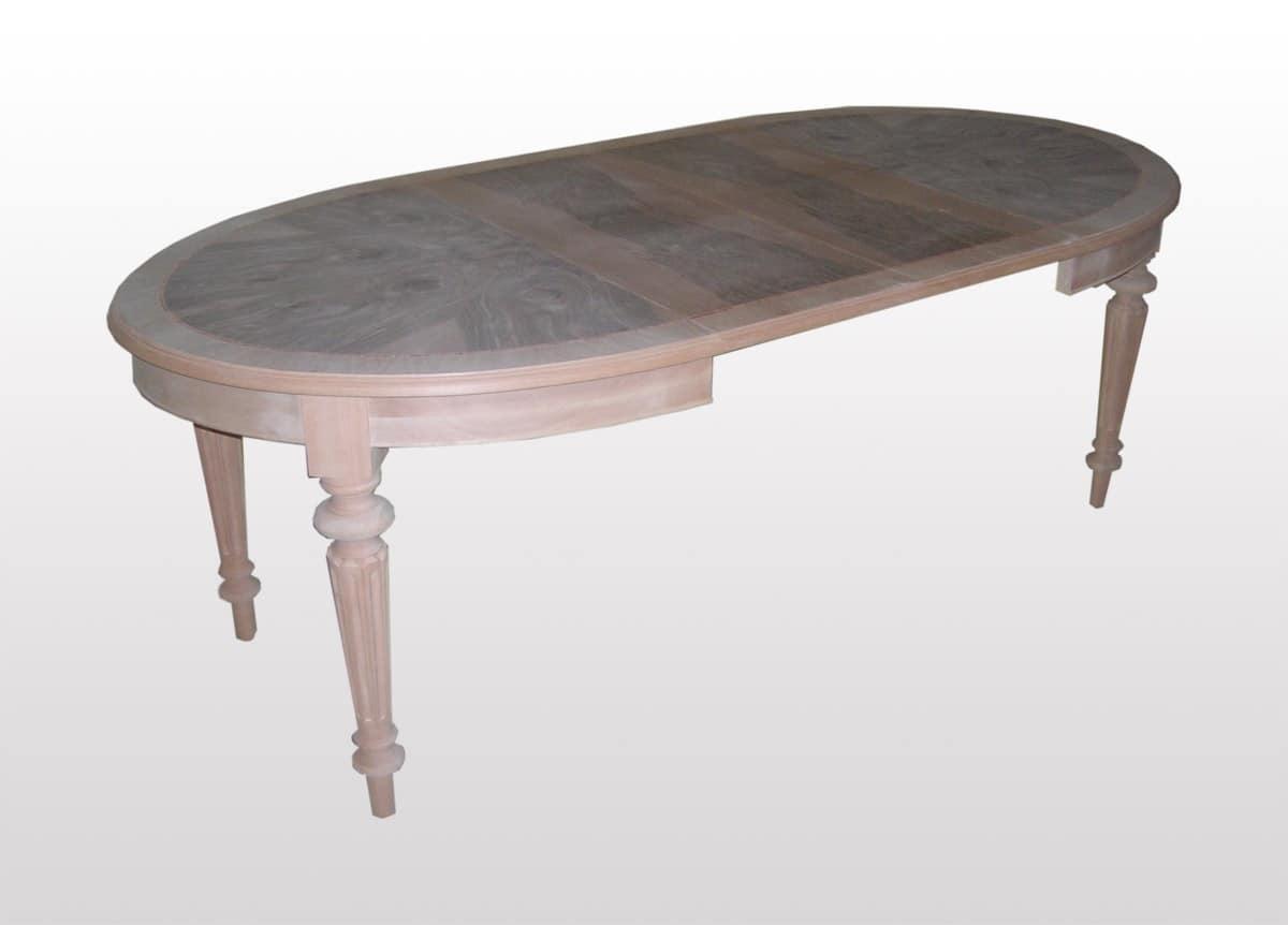 Tavolo allungabile ovale classico per sala da pranzo - Tavolo ovale cucina ...