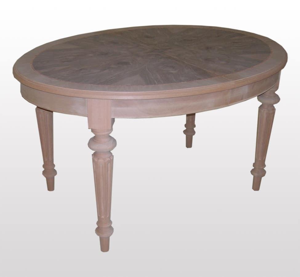 Tavolo allungabile ovale classico per sala da pranzo - Tavolo ovale allungabile ...