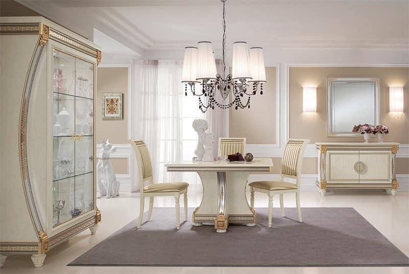 Tavoli da pranzo prodotti di lusso made in italy in legno intagliato a mano idfdesign - Soggiorni di lusso ...