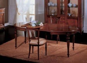 Opera tavolo allungabile, Tavolo da pranzo allungabile, in stile classico