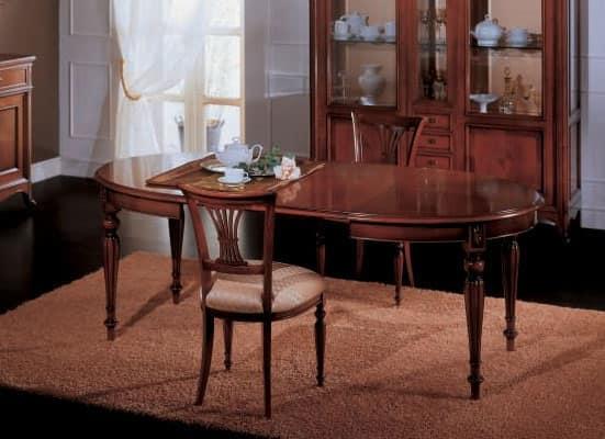 Tavolo da pranzo allungabile, in stile classico  IDFdesign