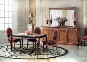 Paradise Diningroom, Tavolo rettangolare per sale da pranzo classiche