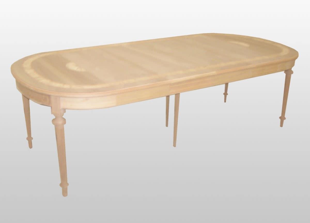 Tavolo ovale con allunghe classico di lusso idfdesign for Immagini di tavoli