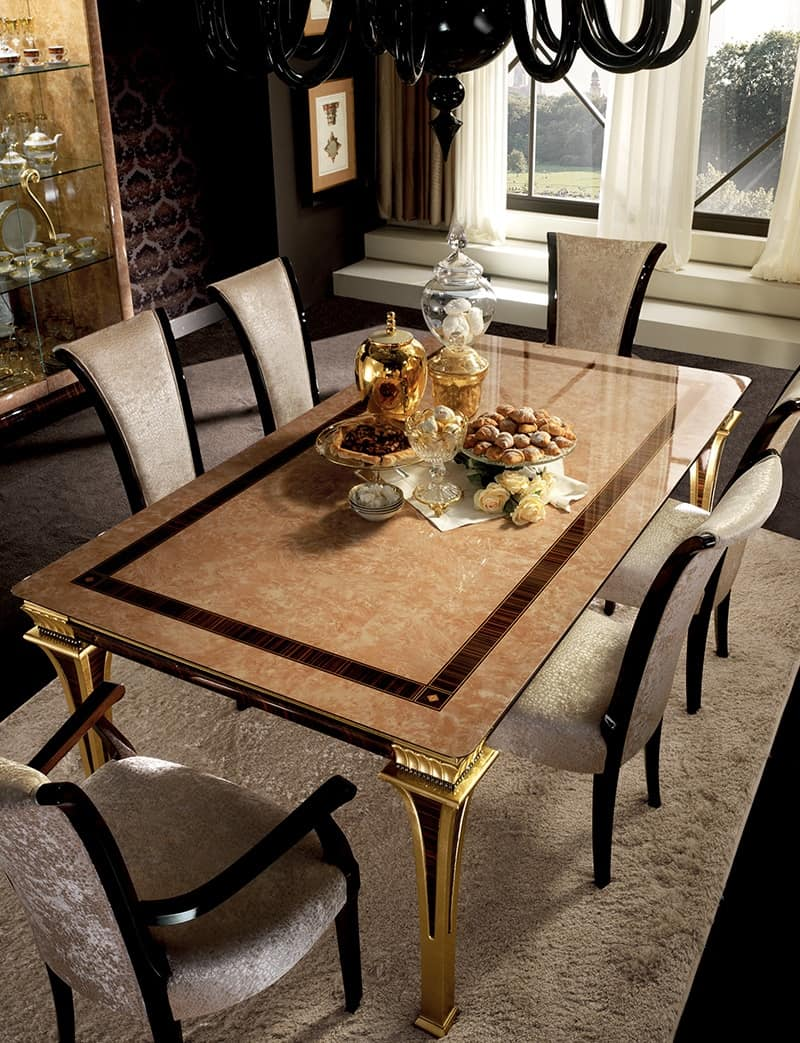 Tavolo allungabile realizzato in art dec con serigrafia for Designer di mobili francesi art deco