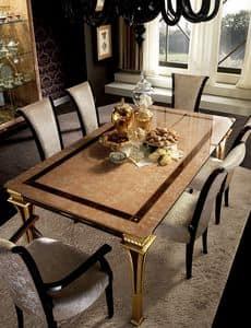 Rossini tavolo, Tavolo allungabile realizzato in art dec�, con serigrafia