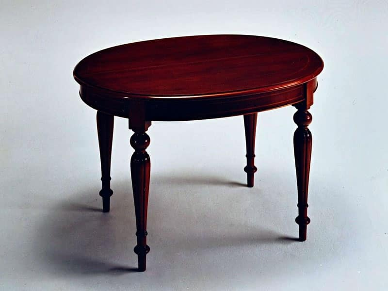 Tavolo allungabile in stile classico di lusso ovale - Tavolo consolle allungabile stile classico ...