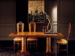 T642 Aurora tavolo, Tavolo rettangolare, classico, estensibile, classico di lusso