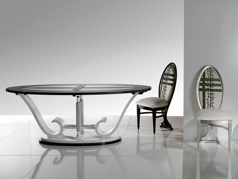 Tavoli da pranzo in cristallo decora la tua vita for Tavoli ovali moderni