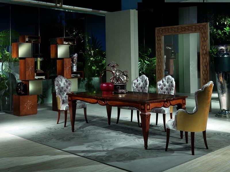 Tavolo in legno decorato a mano per sala da pranzo di for Tavoli classici