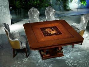 TA50 Class tavolo, Tavolo in legno con decori preziosi, per Hotel di lusso