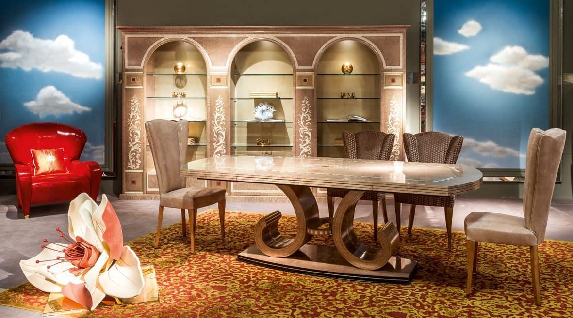 Tavolo allungabile per sale da pranzo di lusso | IDFdesign