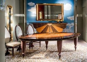 TA59, Tavolo classico con piano a forma di foglia