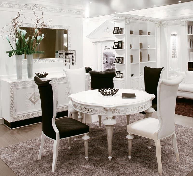 Tavolo di lusso decorato a mano per suite d 39 albergo for Mobili classici contemporanei