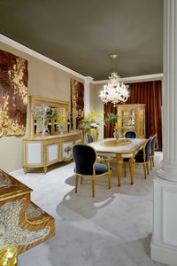 Tavolo da pranzo 1443 STILE LUIGI XVI, Sfarzoso tavolo da pranzo