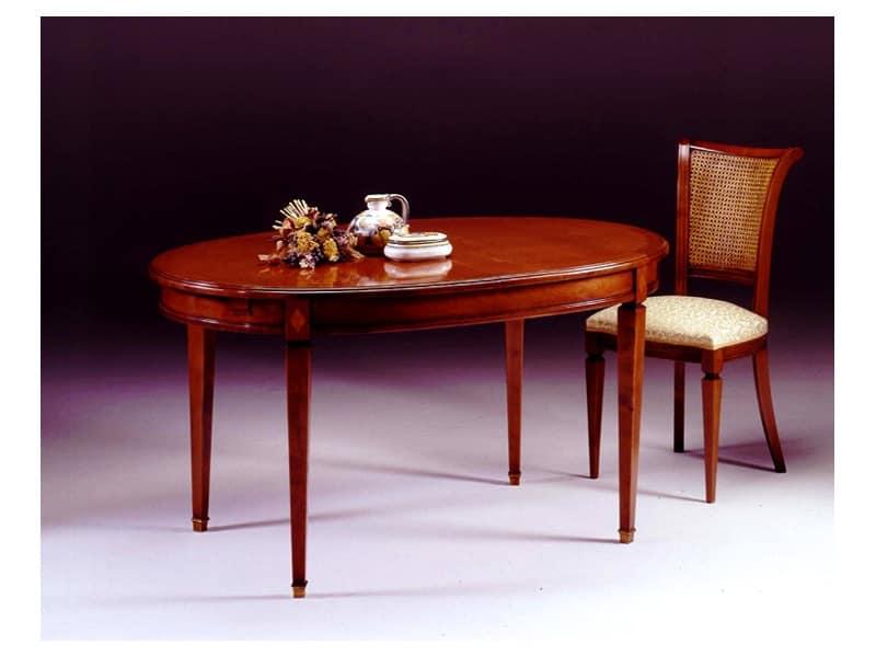 Tavolo ovale classico romeo tavoli da pranzo sala da for Tavolo ovale sala da pranzo
