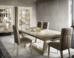 SIPARIO TAVOLO, Tavolo rettangolare in legno per soggiorni classici