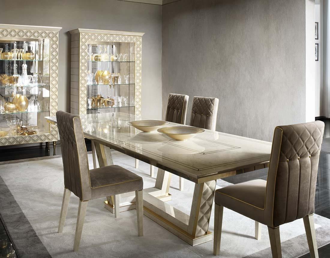 Tavolo rettangolare in legno per soggiorni classici | IDFdesign