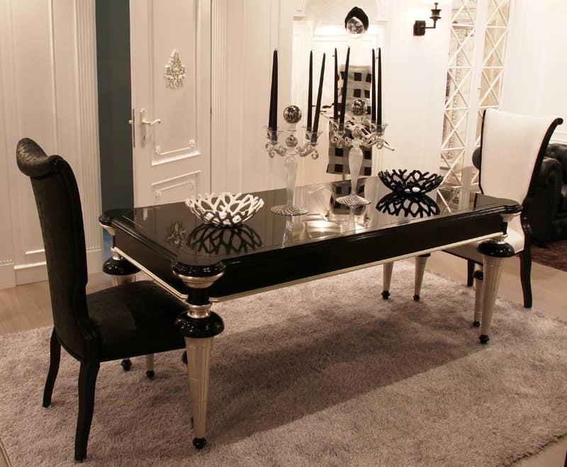 Tavolo da pranzo rettangolare classico contemporaneo for Tavoli contemporaneo design