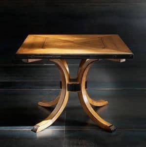 Victoria Art. 80.330, Tavolo quadrato allungabile in ciliegio, per salotti