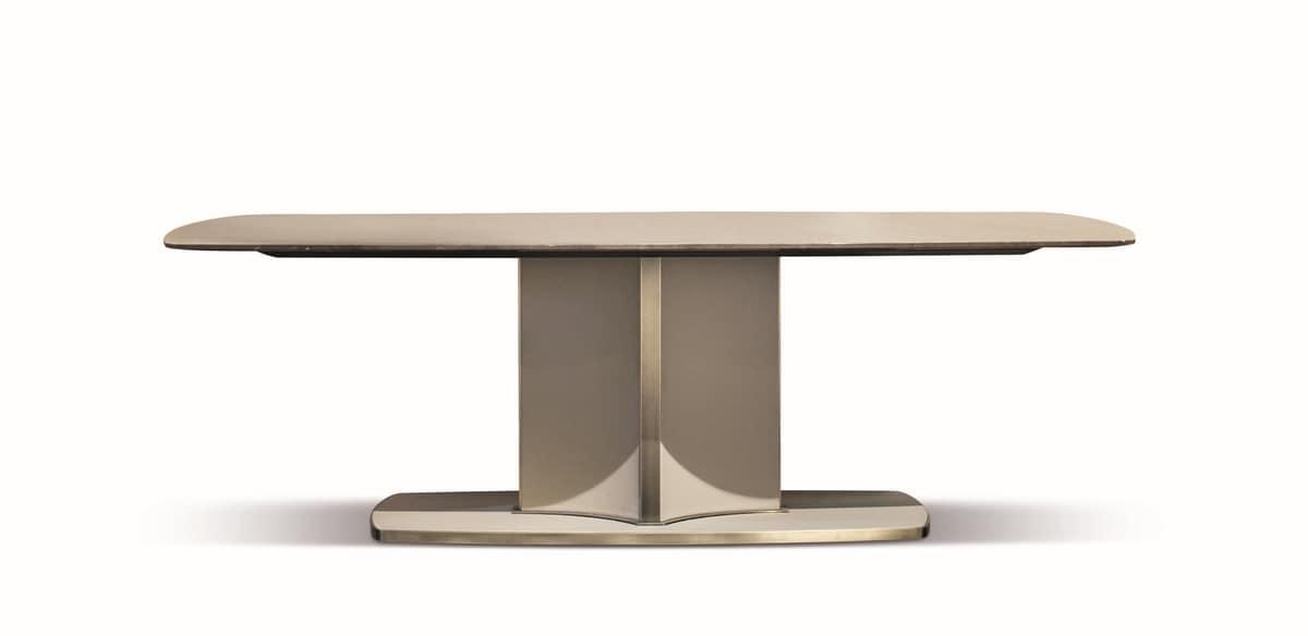 Tavolo di lusso contemporaneo con piano in marmo base in - Tavolo contemporaneo ...