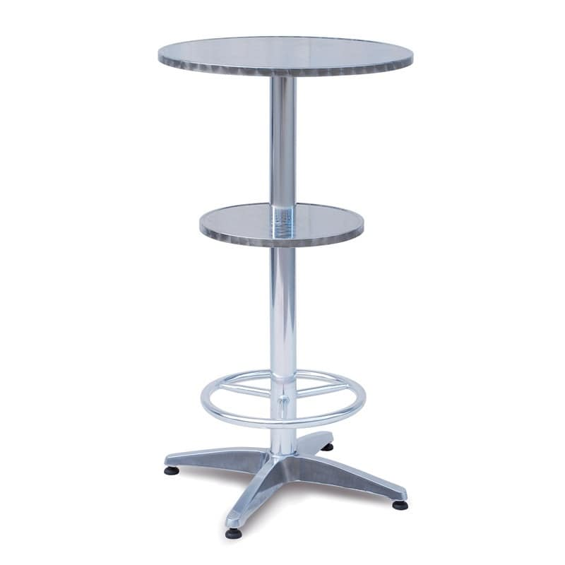 tavolo alto da bar con doppio piano e poggiapiedi idfdesign