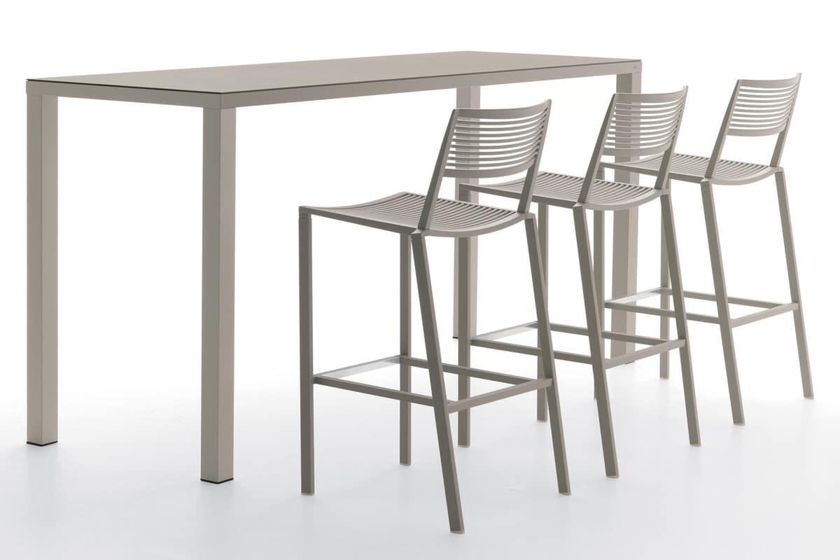 Tavolo alto in alluminio per bar e ristoranti per esterni idfdesign - Tavoli e sedie bar ikea ...