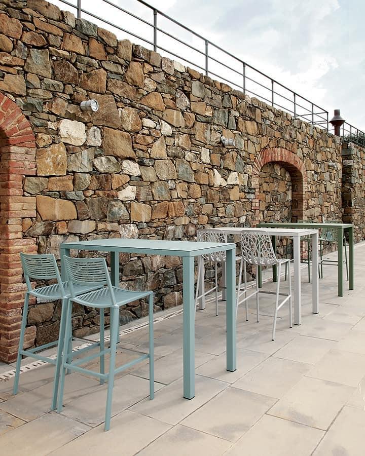 Tavolo alto in alluminio per bar e ristoranti per for Arredi esterni per bar e ristoranti