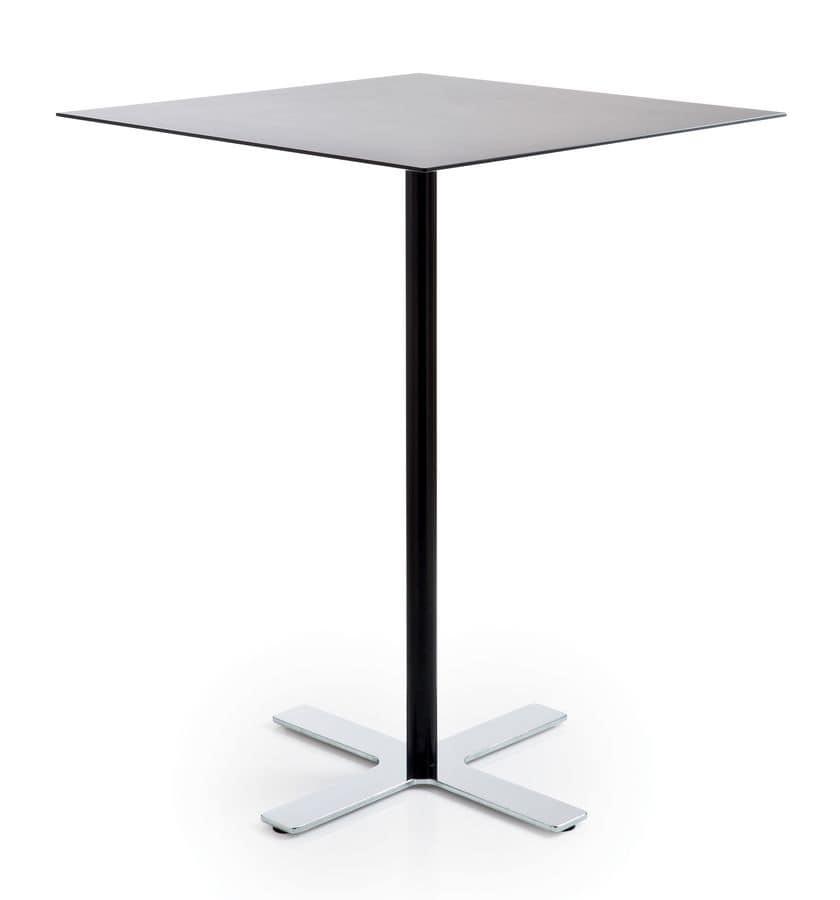 ... Tavoli Tavolini bar Design Moderno con piano in laminato quadrati alti