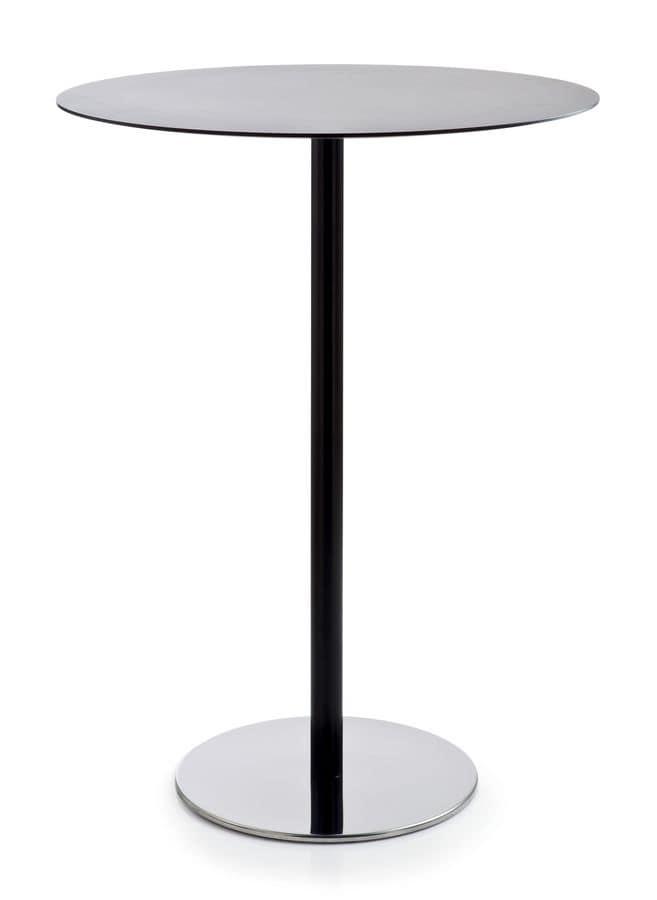 Tavolo rotondo con struttura in metallo e piano in - Tavolo alto bar ...