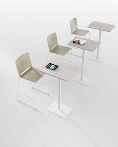 Sib� A, Tavolino alto, con base rettangolare