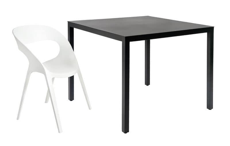 Tavolo da giardino resistente impilabili per ristorante for Tavolo 40x40