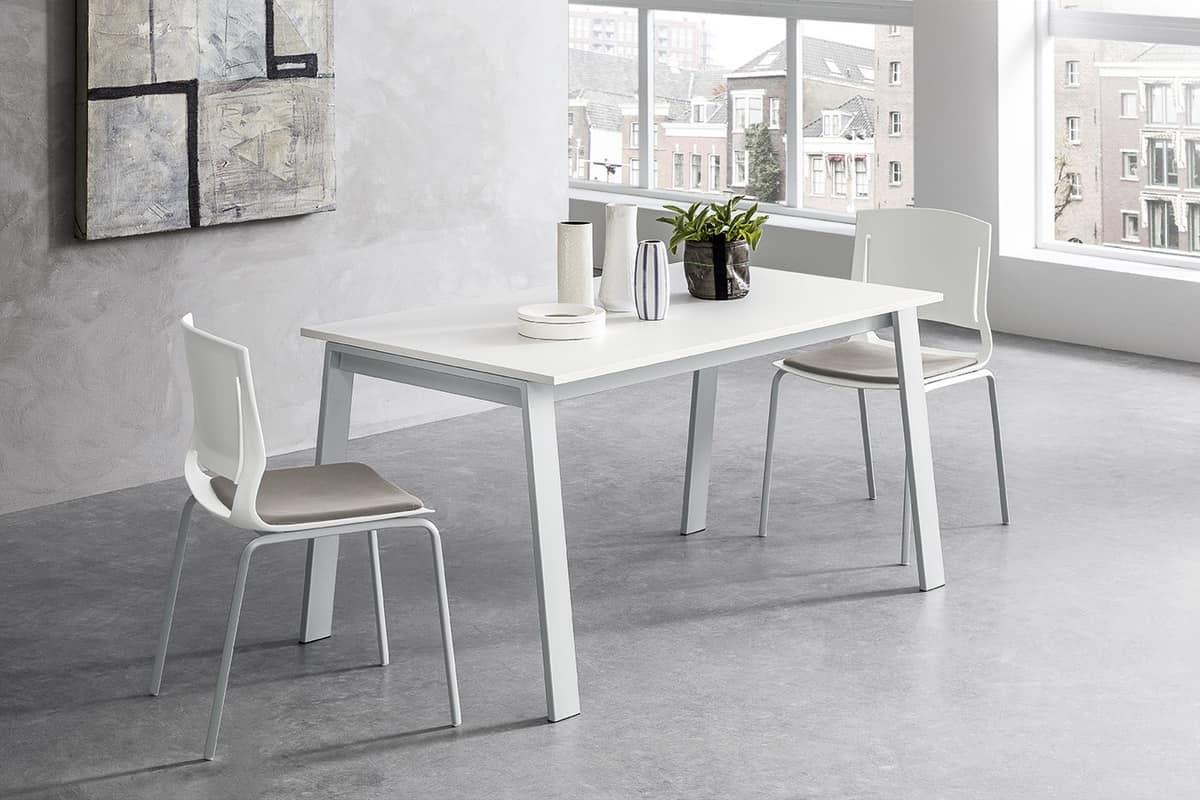 Tavolo allungabile design con gambe inclinate in metallo for Tavoli amazon