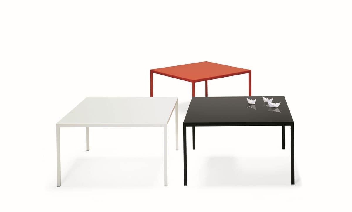 Tavolo quadrato in alluminio laccato piano disponibile for Tavoli contemporaneo design
