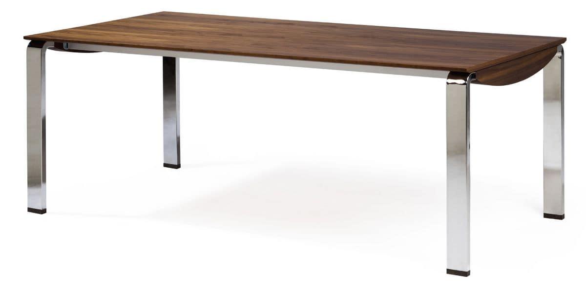Tavolo allungabile per sala da pranzo moderna idfdesign for Tavolo sala allungabile