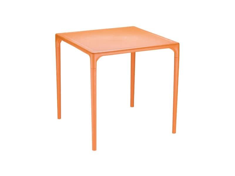 Tavolo quadrato in plastica per giardini idfdesign - Tavolo plastica esterno ...