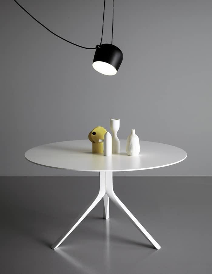 Gambe Per Tavoli Rotondi.Tavolo Rotondo Essenziale Con Gambe In Alluminio Idfdesign