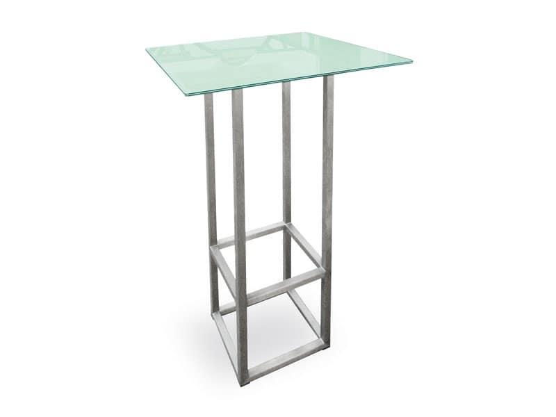 steel style cocktail tavoli alti resistente