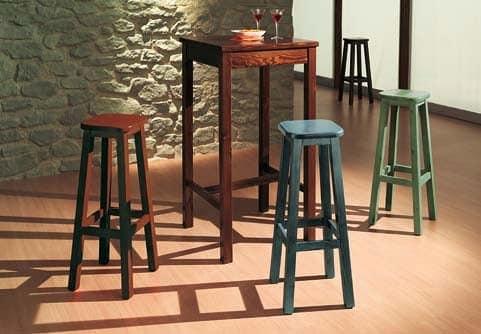 Tavolo rustico alto in legno per bar agriturismi pub - Tavolo alto bar ...