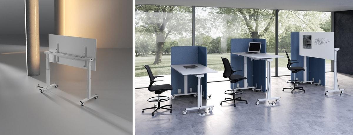 Tavolo regolabile in altezza per scuole e laboratori idfdesign - Tavolo regolabile in altezza ...