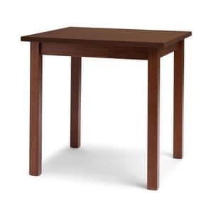 Trattoria, Tavolo lineare in legno di faggio, per ristorante
