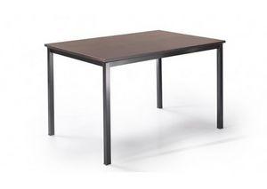 525, Tavolo con gambe in metallo e piano personalizzabile