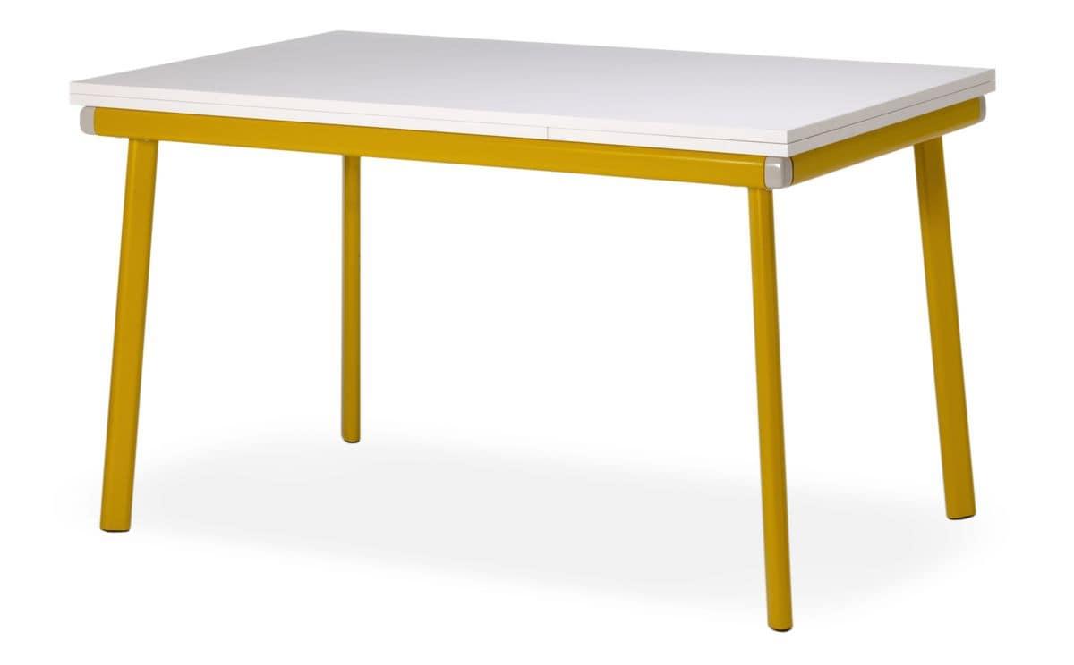 Tavolo allungabile ideale per cucine moderne idfdesign for Tavoli per cucine moderne