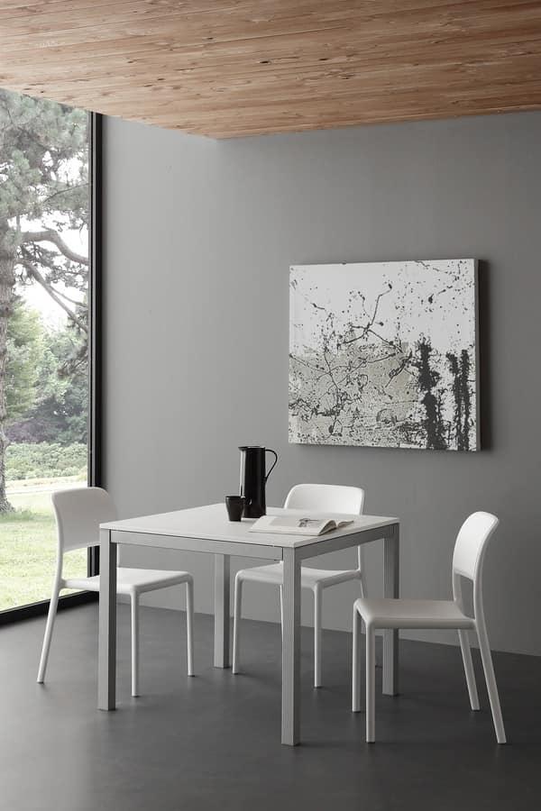 Tavolo da cucina in legno e metallo, in stile moderno | IDFdesign