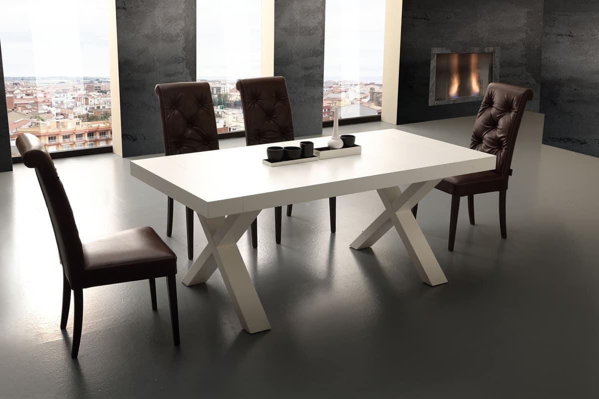Tavolo allungabile in legno nobilitato, per cucina | IDFdesign
