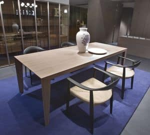 Brando, Tavolo moderno in legno adatto per cucine o sale da pranzo
