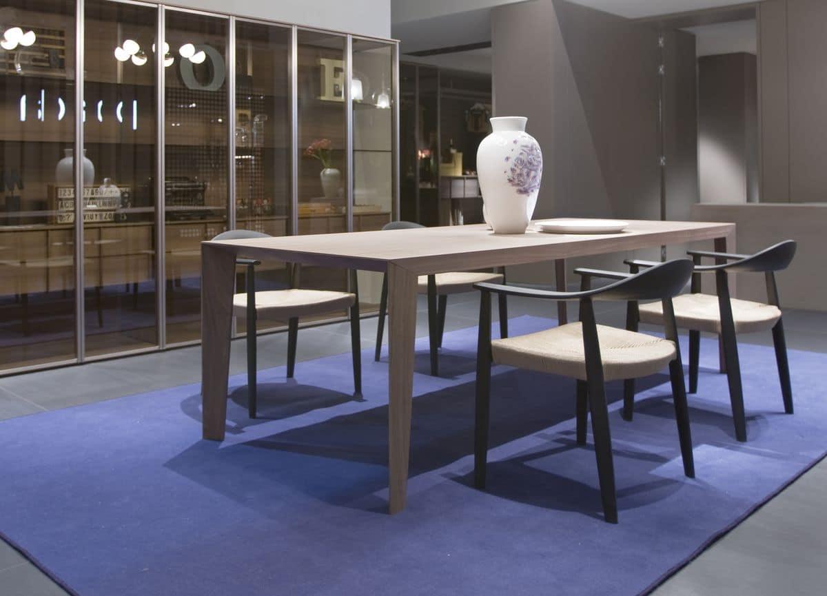 Tavolo moderno in legno adatto per cucine o sale da pranzo idfdesign - Legno adatto per tavolo ...