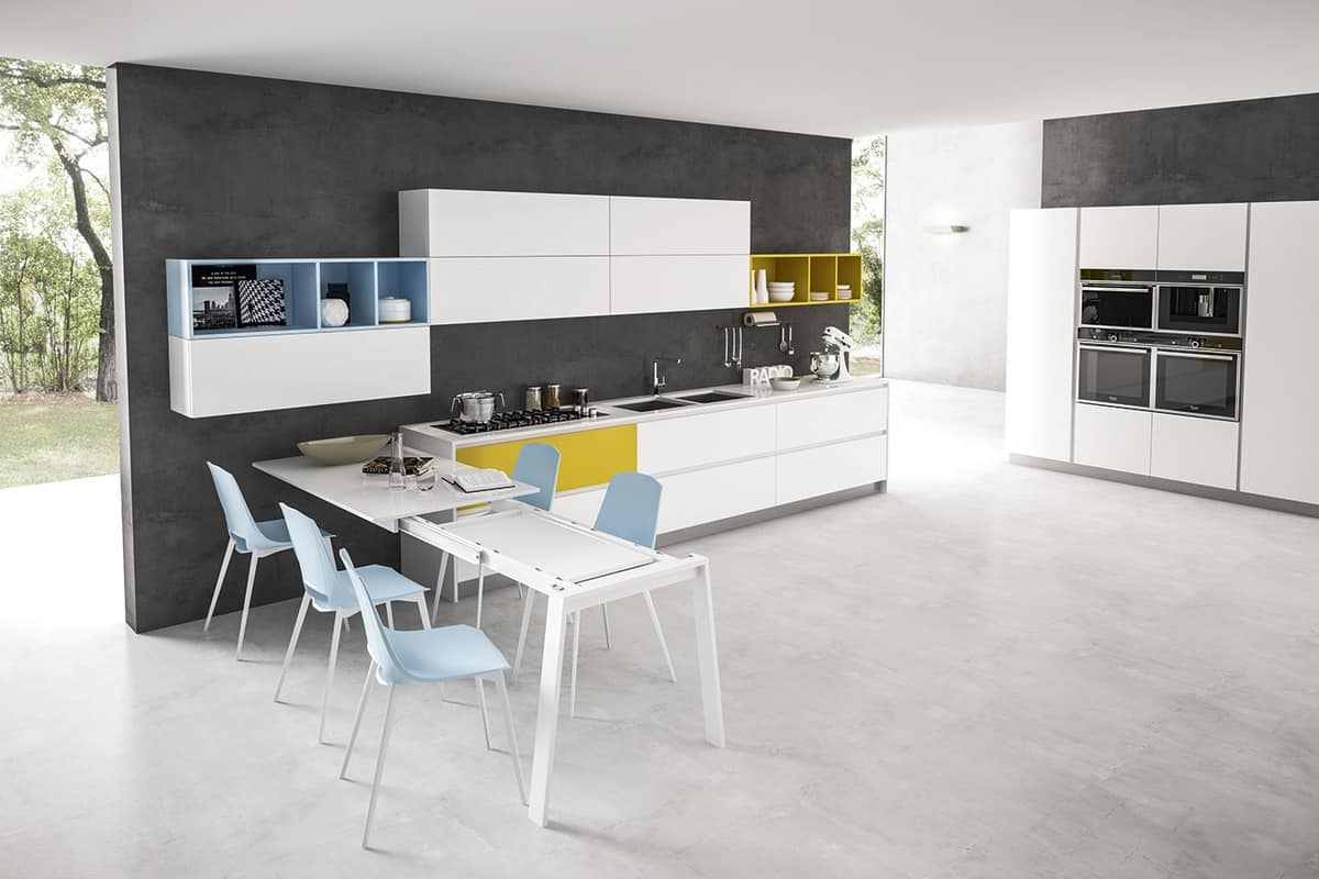 Tavolo penisola allungabile per cucine moderne idfdesign for Tavoli particolari per cucina