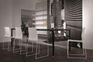 Ernesto Ice Living, Tavolo in metallo, personalizzabile, per sale da pranzo moderne