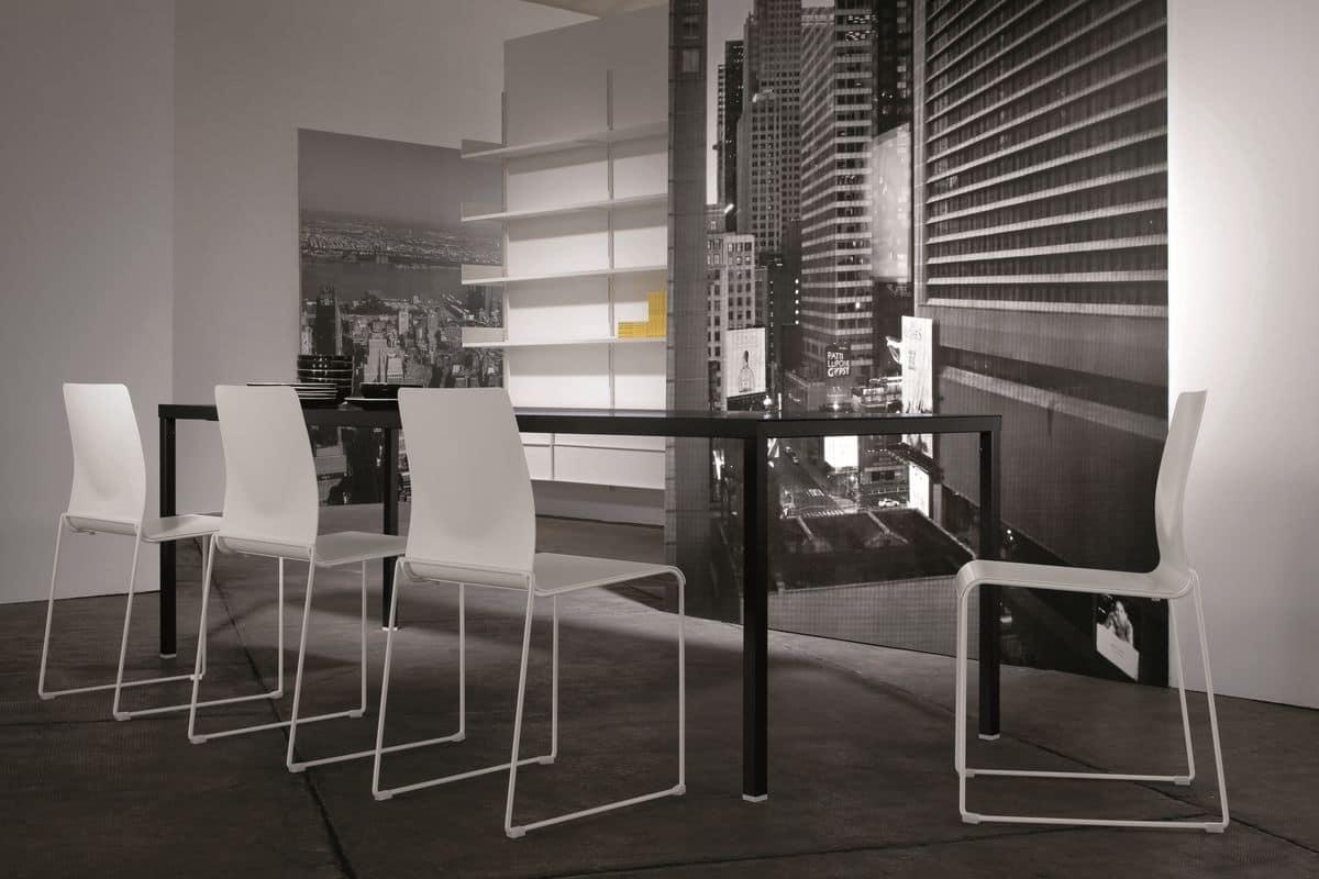 Tavolo in metallo personalizzabile per sale da pranzo moderne idfdesign - Sale da pranzo moderne ...