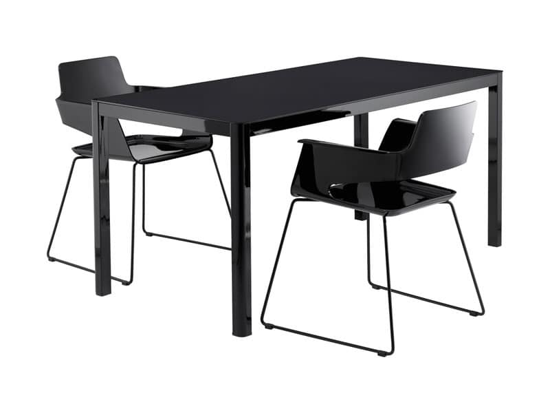 La 80x160 tavolo cucina cucina moderna idfdesign - Tavoli da cucina design ...